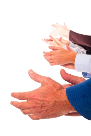 Hands Clapping on White Background photo