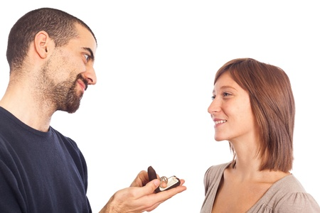 anillo de compromiso: Pareja de enamorados, anillo de compromiso