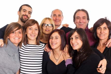 Caucasian Family, Group of People Stock Photo - 8557395
