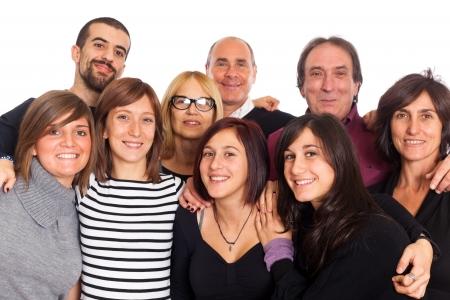 gente sentada: Familia cauc�sica, grupo de personas