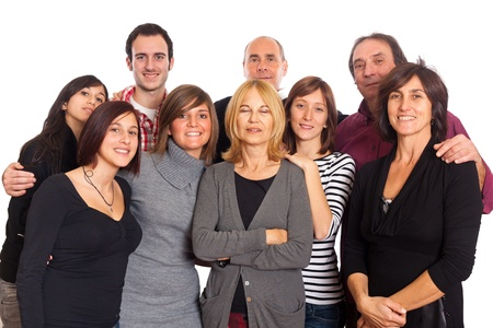 Caucasian Family, Group of People Stock Photo - 8590950