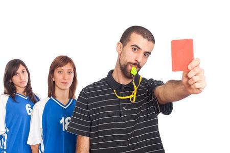Arbitre montrant le carton rouge Banque d'images - 8624660