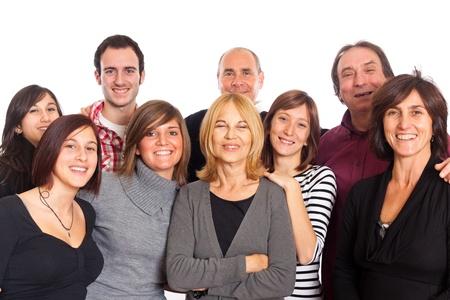 familia abrazo: Familia cauc�sica, grupo de personas