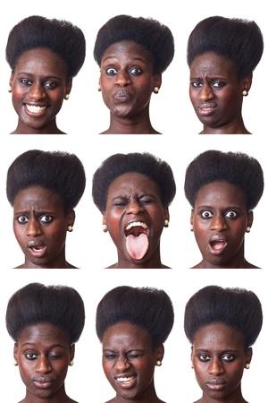 Beautiful Black Woman Portrait, Multiple Image photo