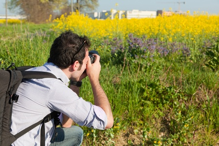 Young Naturalist Photographer at Work photo