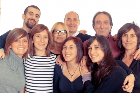 people smiling: Caucasian Family, Group of People