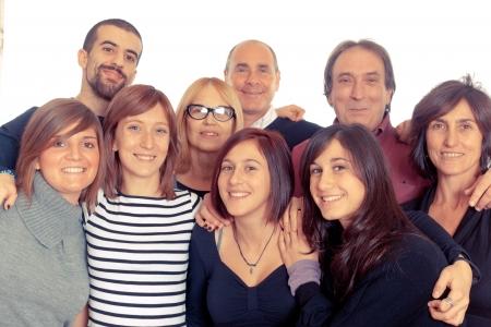 grupo de personas: Familia cauc�sica, grupo de personas