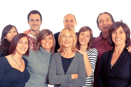 medium group of people: Caucasian Family, Group of People
