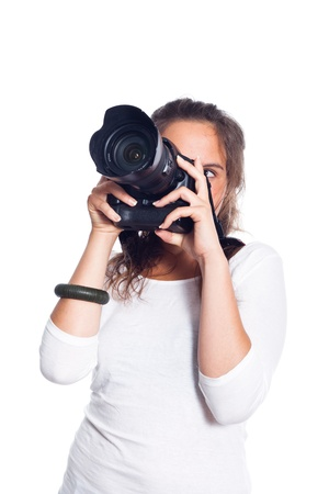 Young Female Photographer Stock Photo - 10338706