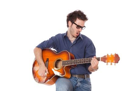 Young Man Playing Guitar Stock Photo - 10406092