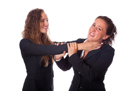 women fighting: Two Business Women Fighting