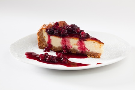 Cheescake Slice with Soft Fruits photo