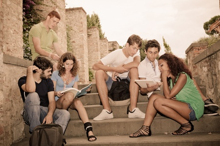 Multicultural Group of College Students photo
