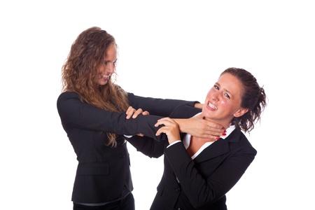 women fight: Two Business Women Fighting