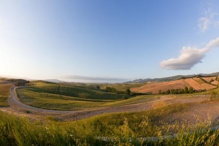 Tuscany Hills at Sunrise photo