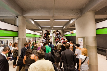 MILAN, ITALY - September 30, 2011: Commuters at Milan Cadorna Subway Station on September 30, 2011 in Milan, Italy