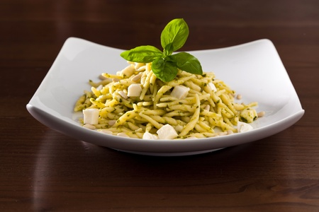 Trofie with Pesto, Italian Dish photo