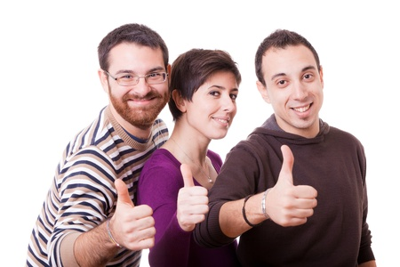 thumbs up group: Thumbs Up Stock Photo