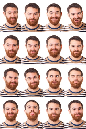 Man Portrait, Collection of Expressions photo