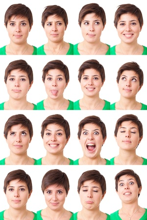 Woman Portrait, Collection of Expressions photo