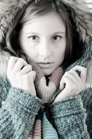 Beautiful Winter Woman photo