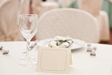 Booked Place in Elegant Restaurant photo