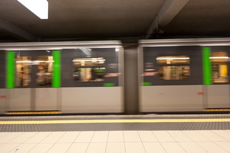 Subway Train, Motion Blur Effect photo