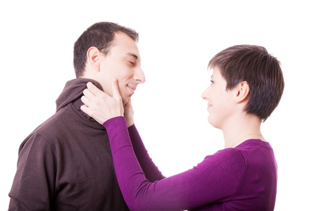Woman Slapping a Man Stock Photo - 11696733