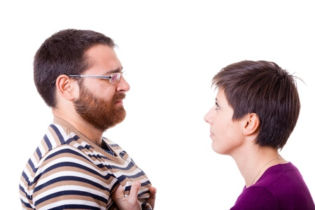 Woman Slapping a Man Stock Photo - 11696731