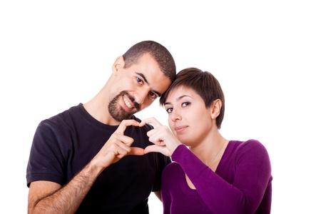 teen couple: Happy Caucasian Couple