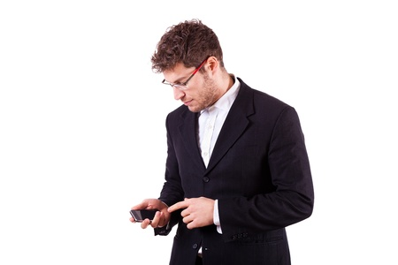 Young Businessman with Smartphone photo