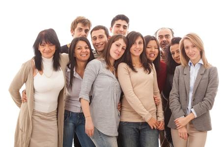 grote groep mensen: Grote groep mensen, Grote Familie Stockfoto