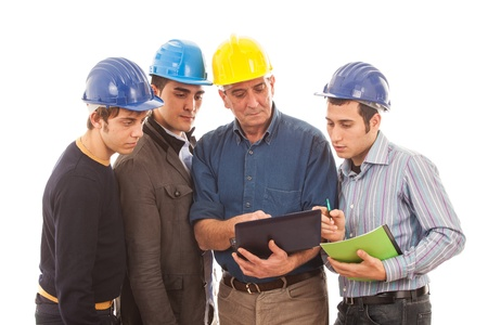 Engineers or Architects with Helmet on White Background Stock Photo - 12120966