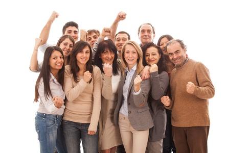 multiracial group: Gran grupo de personas, Big Family Foto de archivo