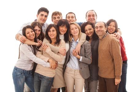 grupo de personas: Gran grupo de personas, Big Family Foto de archivo