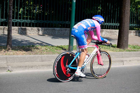 MILANO, ITALY - MAY 29: Cyclist Daniele Righi during the 21th Stage of 2011 Giro d Stock Photo - 12513351