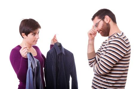 Couple Choosing the Shirt to Dress Stock Photo - 13065306