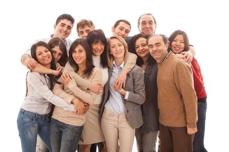 multicultureel: Grote groep mensen, Grote Familie Stockfoto