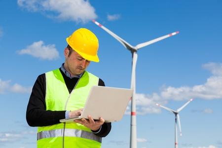 computer engineer: Technician Engineer in Wind Turbine Power Generator Station