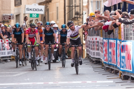 d mark: ASSISI, PERUGIA, ITALY - MAY 15: Mark Cavendish, Team Sky, at the end of the 10th stage of 2012 Giro d