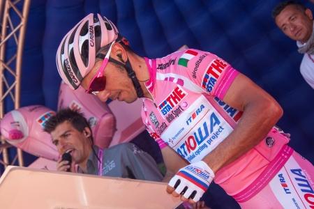 joaquin: SERAVEZZA, LUCCA, ITALY - MAY 17: Joaquin Purito Rodriguez, Team Katusha, before the 12th stage of 2012 Giro dItalia on May 17, 2012 in Seravezza, Lucca, Italy Editorial
