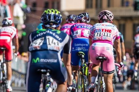 joaquin: SESTRI LEVANTE, GENOVA, ITALY - MAY 17: Joaquin Rodriguez and Michele Scarponi after the 12th stage of 2012 Giro dItalia on May 17, 2012 in Sestri Levante, Genova, Italy Editorial