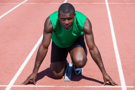 Male Track and Field Athlete before the Race Start Stock Photo - 14065050