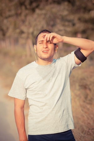 Tired Young Man After Jogging Stock Photo - 14614022