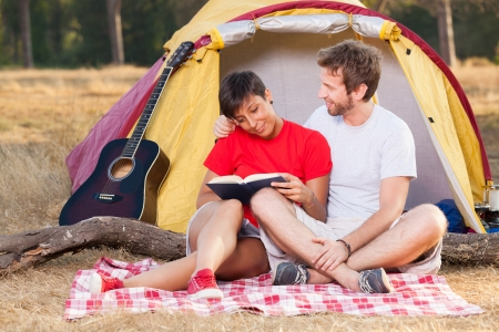 Young Couple Camping photo
