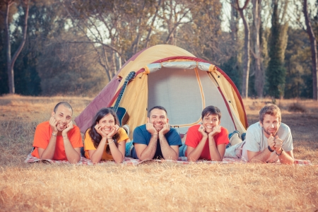 Young People Camping photo