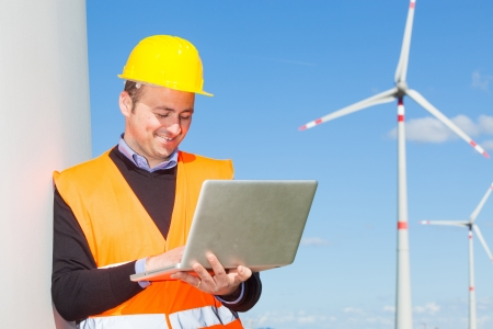 wind mills: Technician Engineer in Wind Turbine Power Generator Station