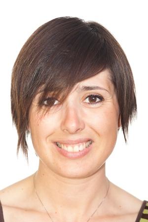female tongue: Young Beautiful Woman Portrait