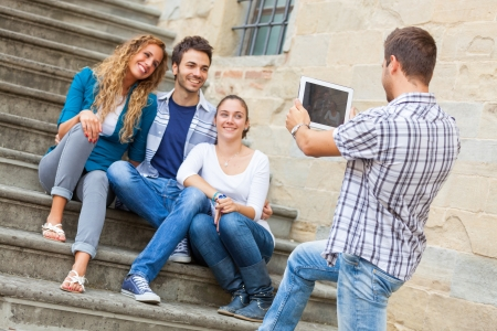 group photo: Taking Photos with Tablet PC