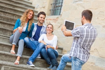 highschool student: Taking Photos with Tablet PC